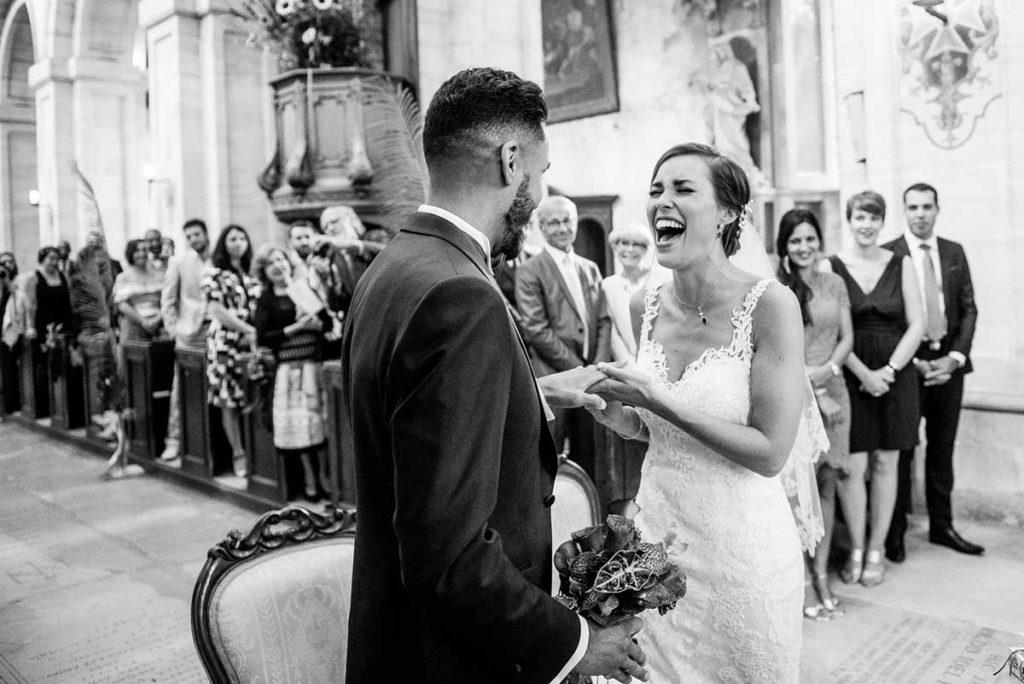 Mariage du rire aux larmes