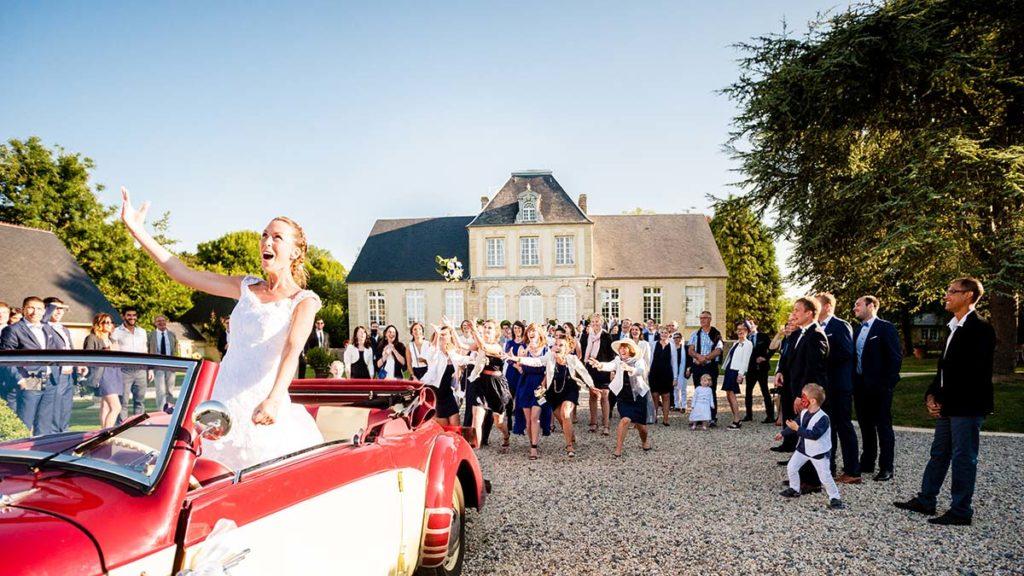 Lancé de bouquet - Mariage - Manoir de Chivré Normandie