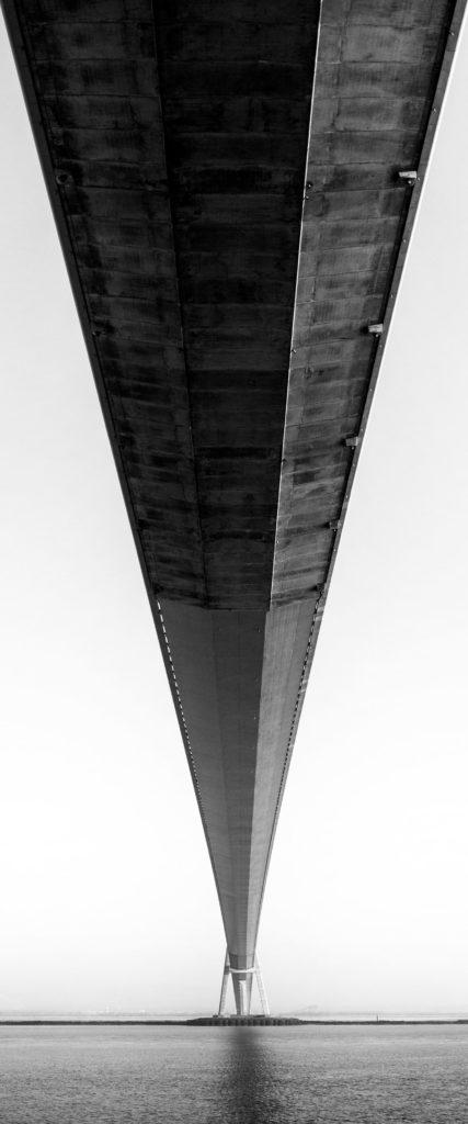 Panoramique sous le pont de Normandie