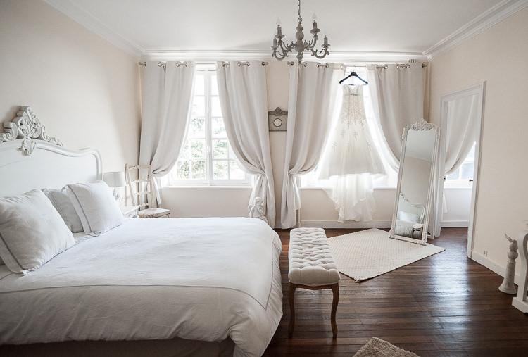 Préparatif Mariage – Le choix d'une pièce lumineuse est primordial. Ici pièce du manoir de chivré en Normandie