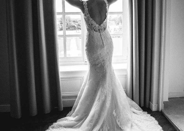 robe de mariée au chateau de martragny en normandie