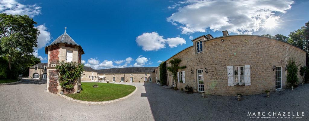 Photo panoramique Colombier du manoir - salle de réception pour mariage en Normandie.