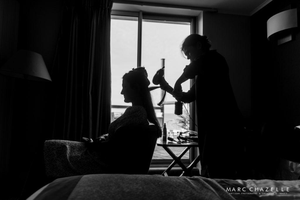 Préparatifs de la mariée à l'hôtel les voiles de Sainte-Adresse
