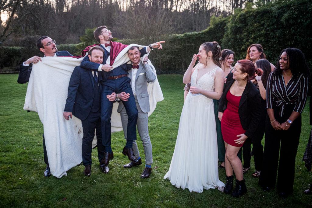 photo de groupe mariage humour