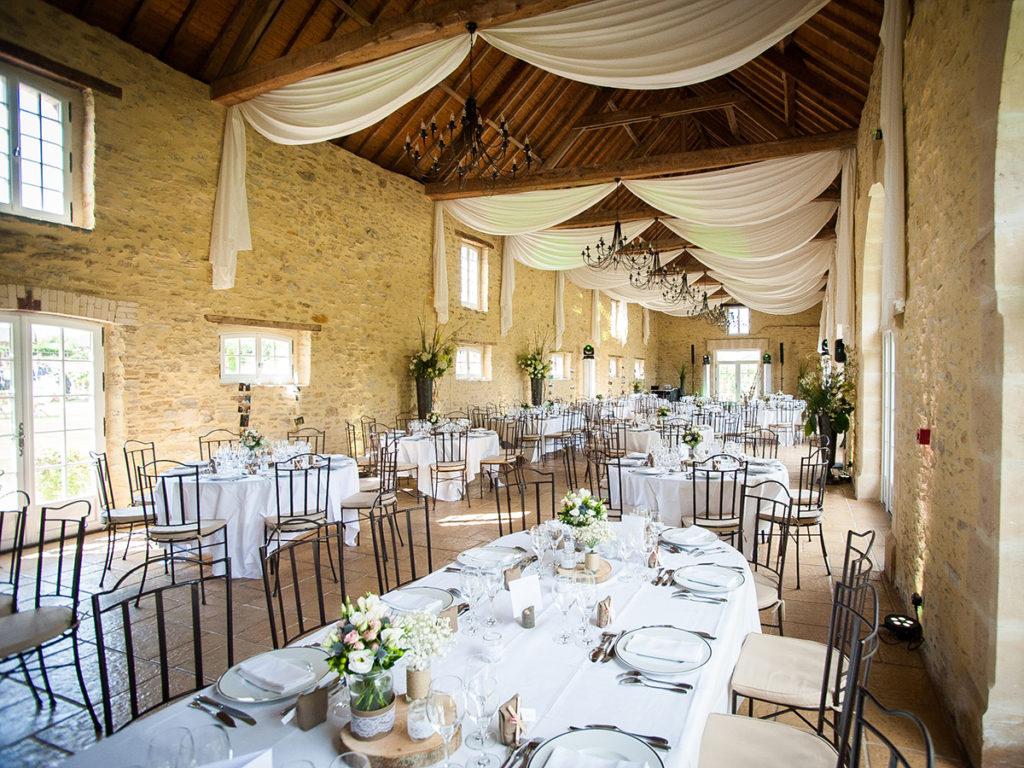 Manoir de Chivré Normandie Mariage Salle de réception décorée