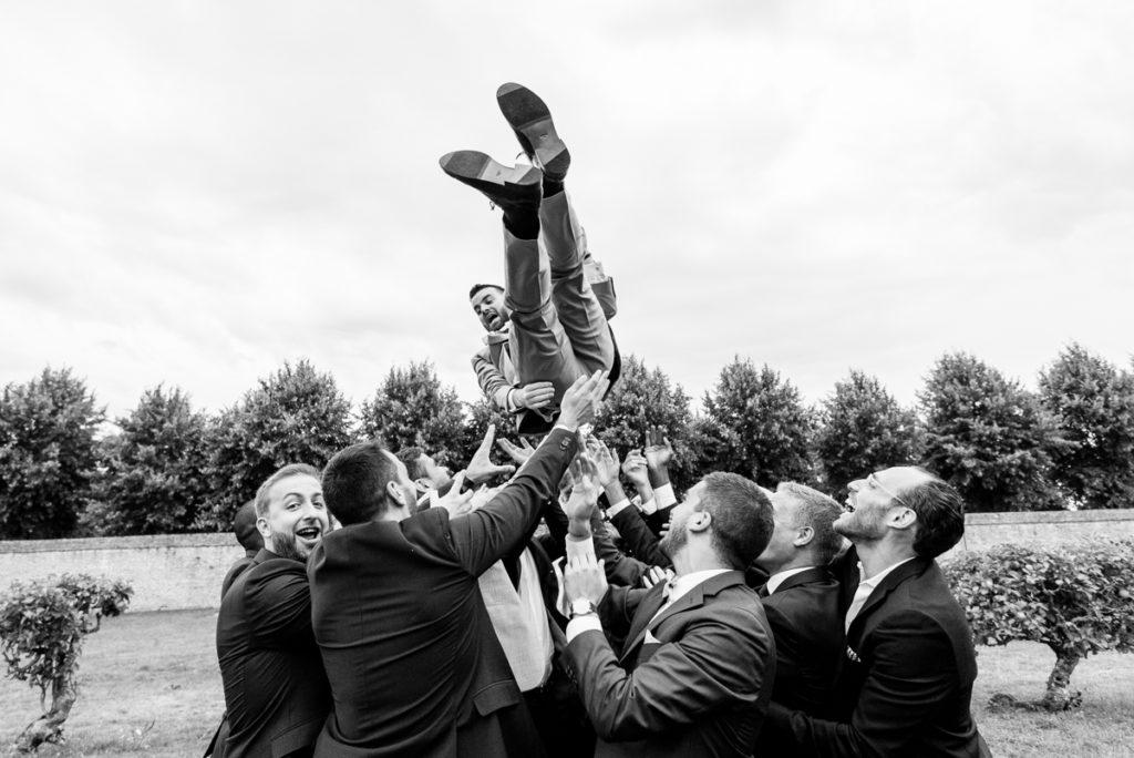 lancé du marié photo humour mariage