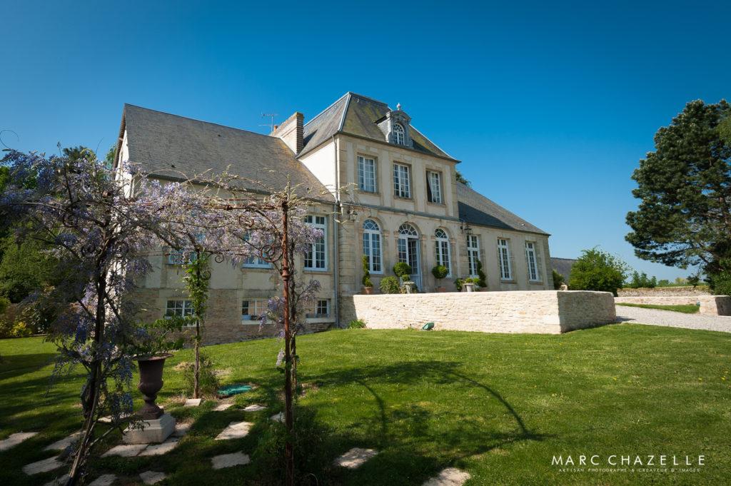 Manoir de chivré en Normandie façade extérieure