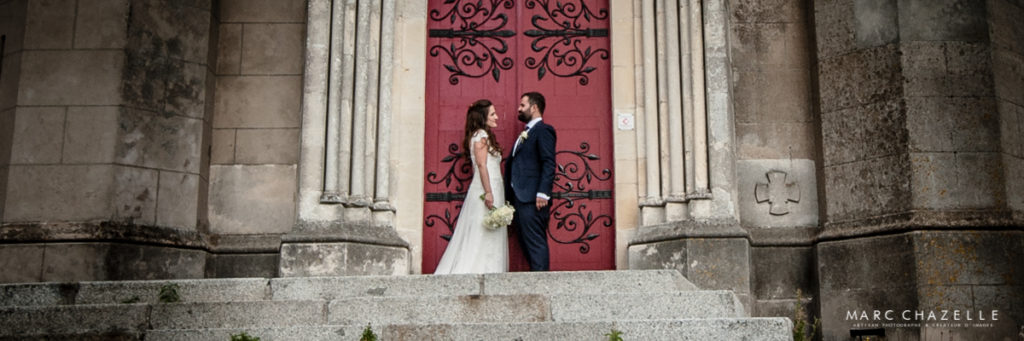 Photo de couple a l'église Notre Dame des Flots de Sainte-Adresse
