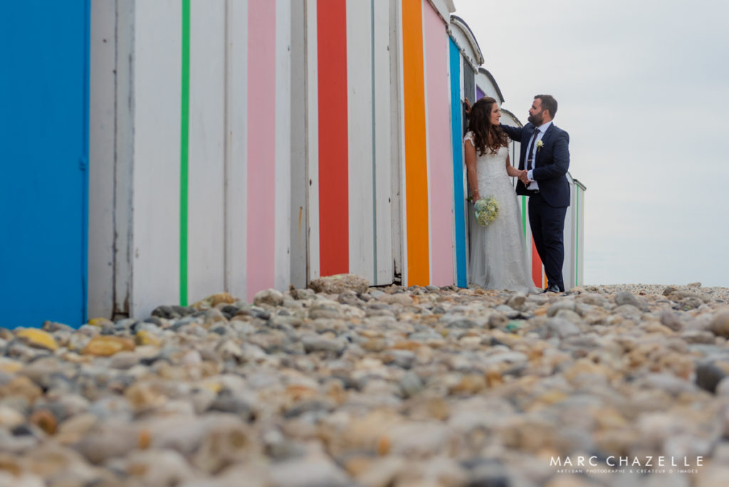 Photo de couple sur la plage du Havre