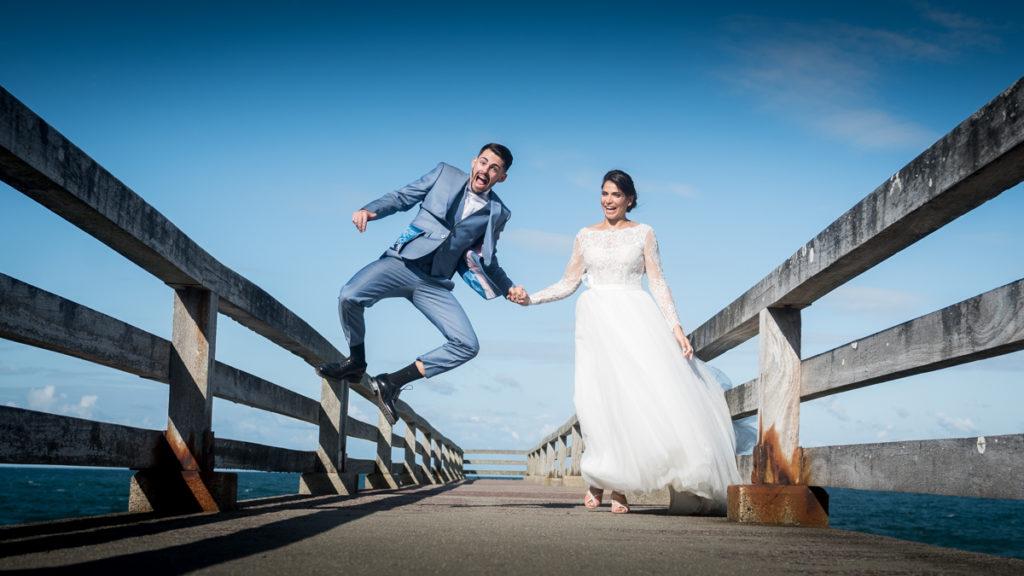 saut mariage photo de couple