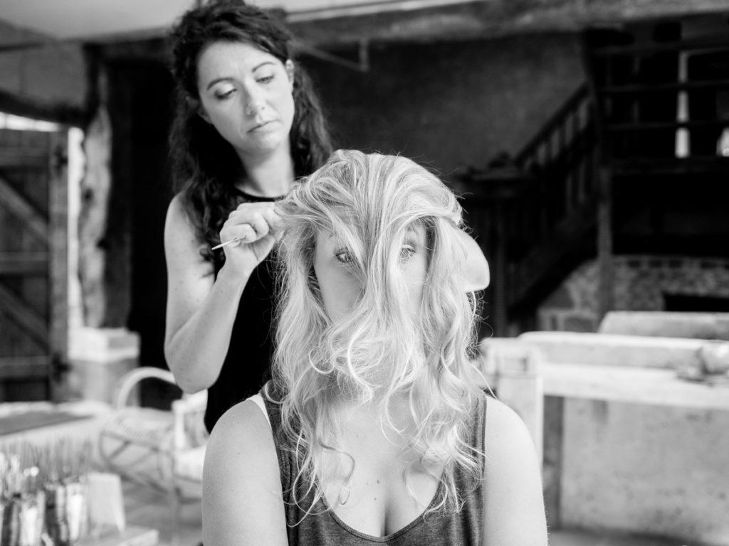 mariage coupe de cheveux préparatifs photographe