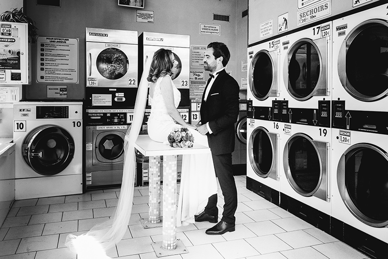 mariage photo laverie