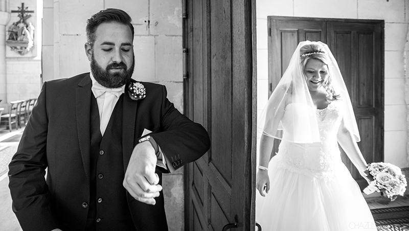 mariage mariée en retard