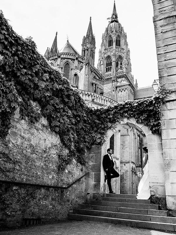 cathédrale de bayeux - mariage couple
