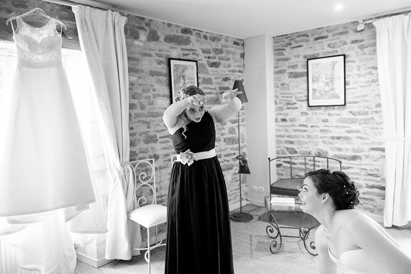 plongeon robe de mariage humour