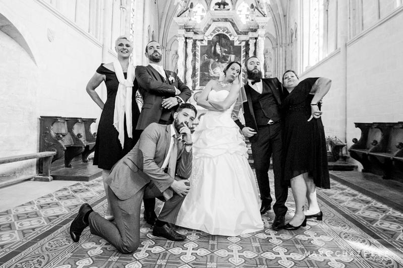 Photo groupe humour mariage