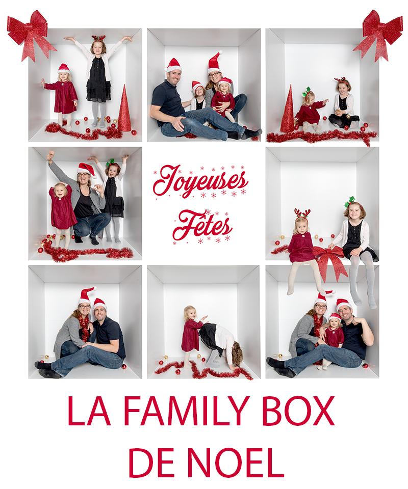 La family box de Noël, une idée de photo vraiment originale