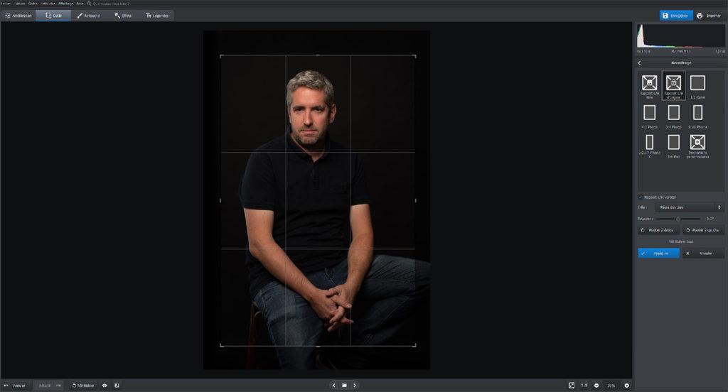 recadrage avec le logiciel Photoworks