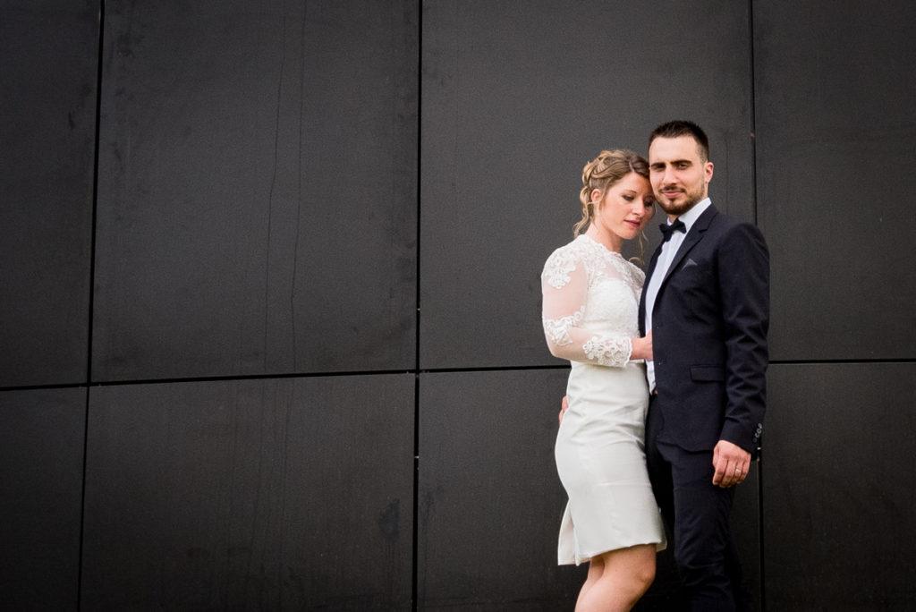 photo de couple à la collines aux oiseaux à Caen