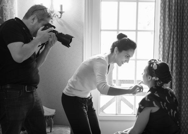photographe de mariage en action