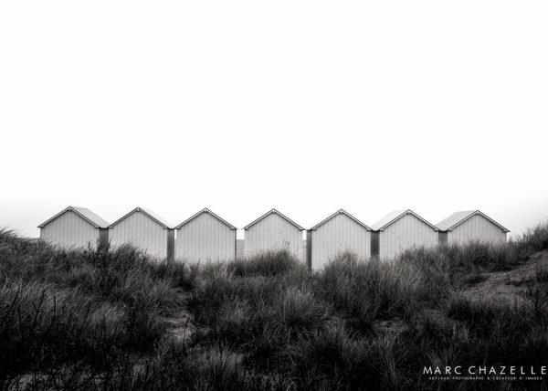 cabines de plage à Ouistreham