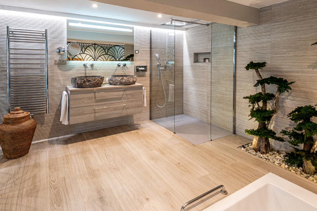 Salle de bains hotel en Normandie