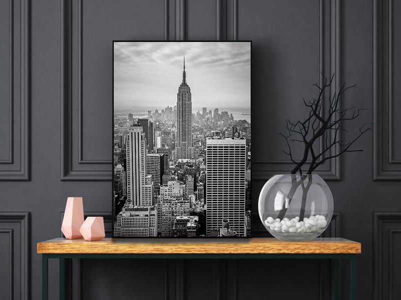 tirage original vue sur l'empire state building a New York City