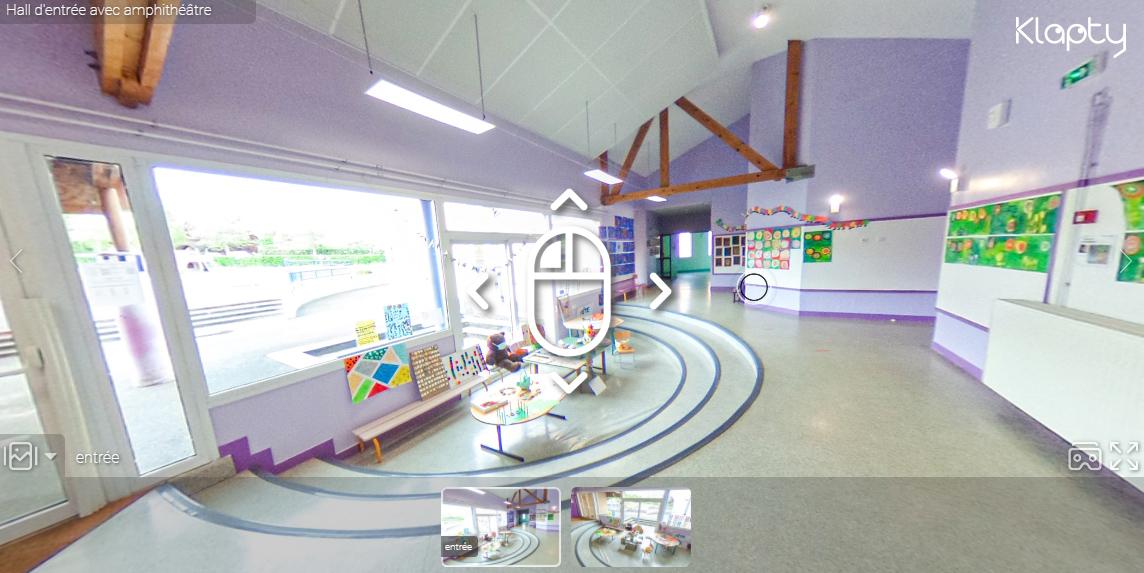 Visite virtuelle de l'école de Dozulé en Normandie