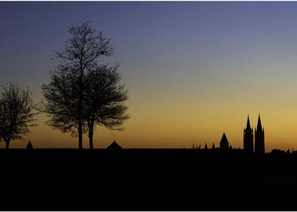Superbe Coucher de soleil sur le Château de Caen