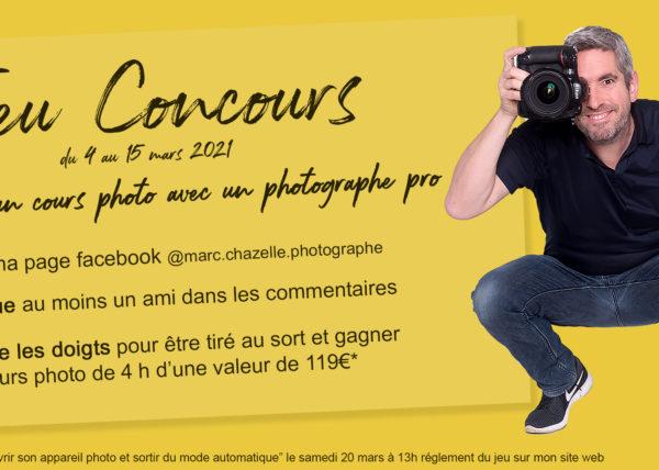 Jeu concours facebook gagner un cours photo avec un pro